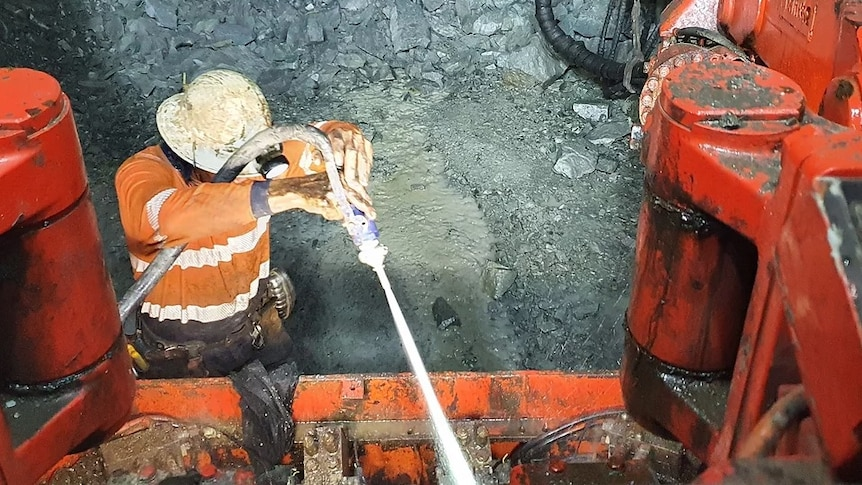 A worker at a mine site.