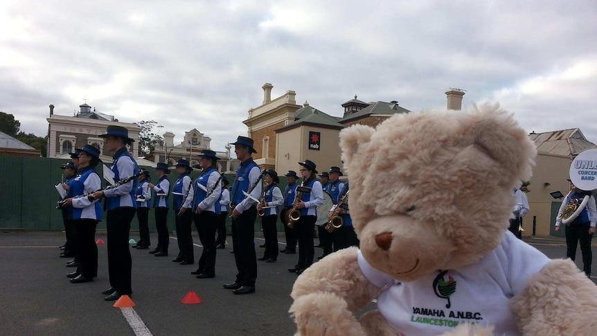 Band at the starting line at the Australian National Band championships