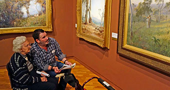 Alzheimer's arts therapy tour at the National Gallery