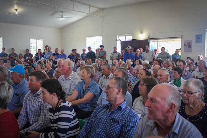 Crowd at Marlborough Public Hall