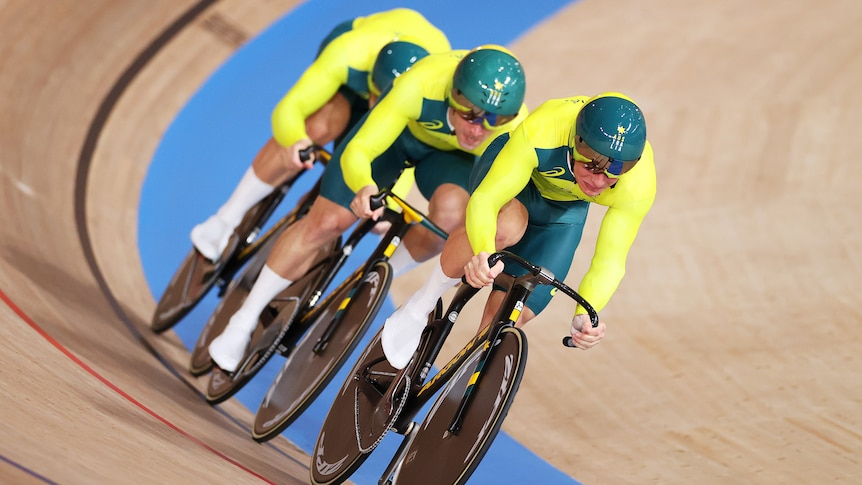 Three Australian male cyclists compete in the men's sprint at the Tokyo Olympics.