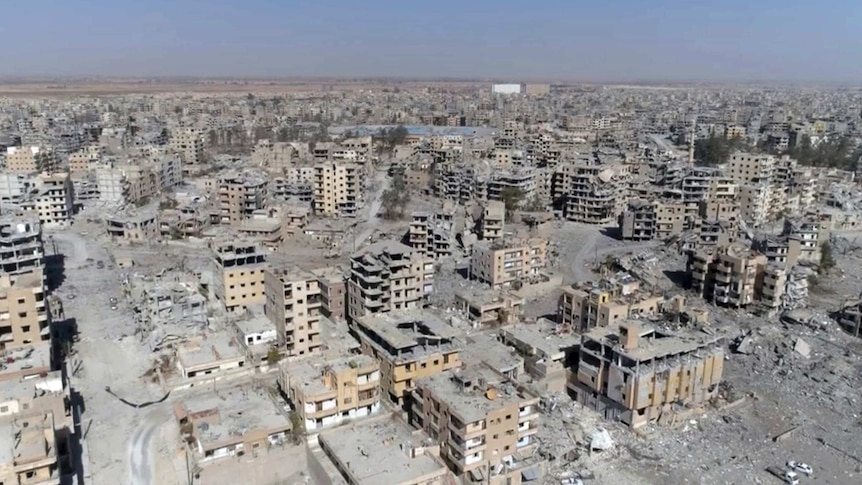 The fall of Raqqa left 80 per cent of the city destroyed. (Image: AP/Gabriel Chaim)