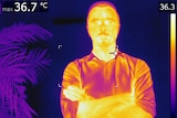 Journalist Malcolm Sutton looking hot (under thermal imaging)