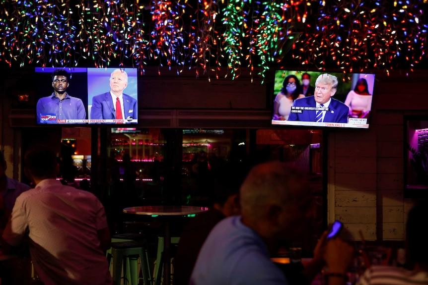 The dual town halls of U.S. Democratic presidential candidate Joe Biden and U.S. President Donald Trump