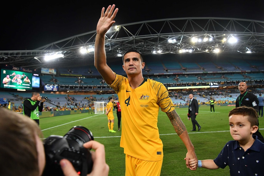 Tim Cahill says goodbye in last-ever Socceroos appearance