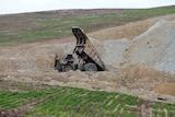 Mining rehabilitation on Glencore's mine