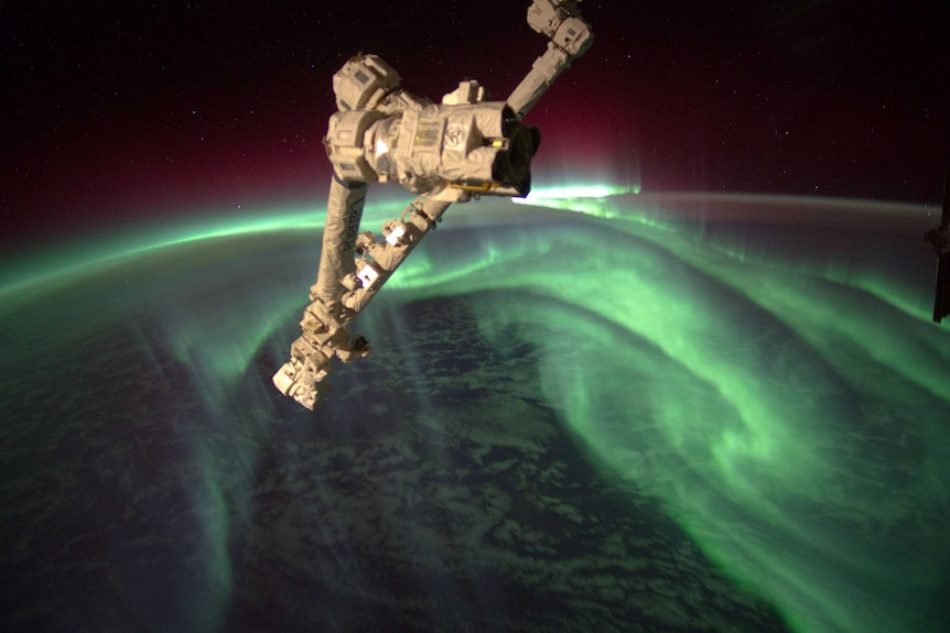 Aurora Australis, seen from the International Space Station in 2012