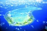 Aerial photo of Fanning Island, Kiribati