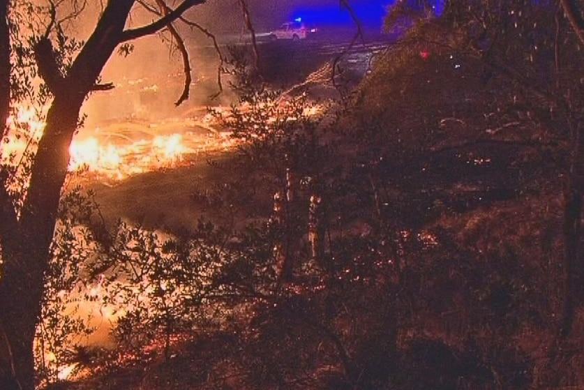 Onkaparinga Hills fire