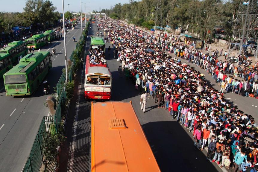 Indian migrant exodus