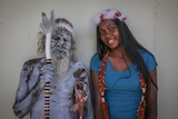 Gali Yalkarriwuy Gurruwiwi and his granddaughter Sasha Mulungunhawuy Yumbulul