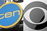 The logos of Network Ten and CBS