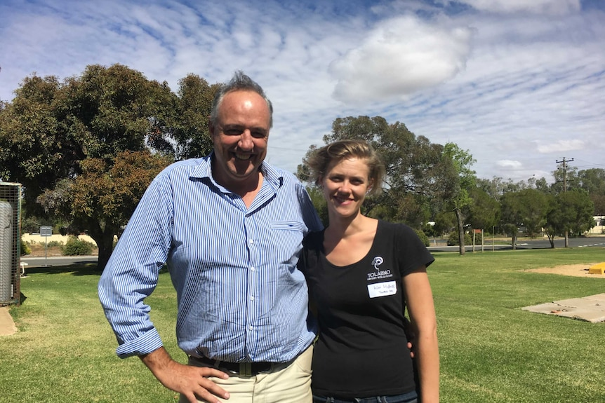 Graziers Rob and Kat McBride from Tolarno Station.