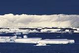 Part of the Totten glacier in East Antarctica