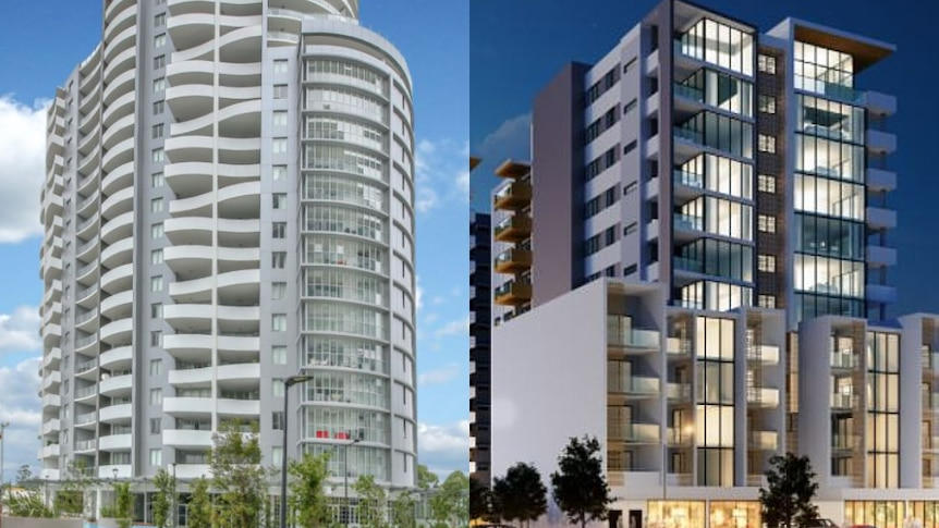 two building apartment towers