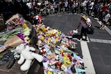Flowers at site of Melbourne incident