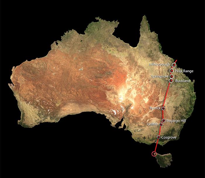 Cosgrove volcano chain