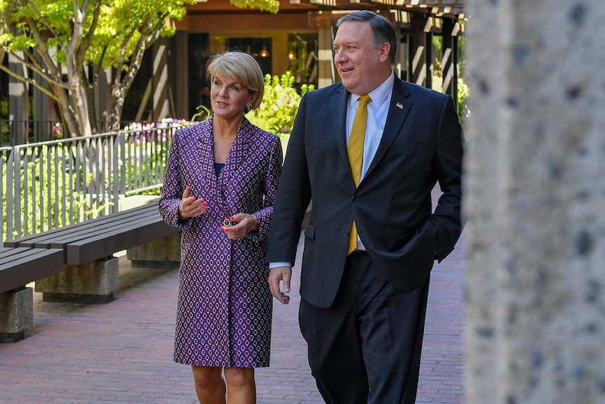 Foreign Minister Julie Bishop and US Secretary of State Mike Pompeo at the AUSMIN.