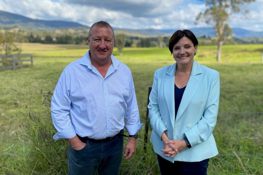 Upper Hunter Labor candidate Jeff Drayton and State Opposition Leader Jodi McKay