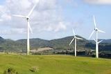 The Windy Hill wind farm near Ravenshoe