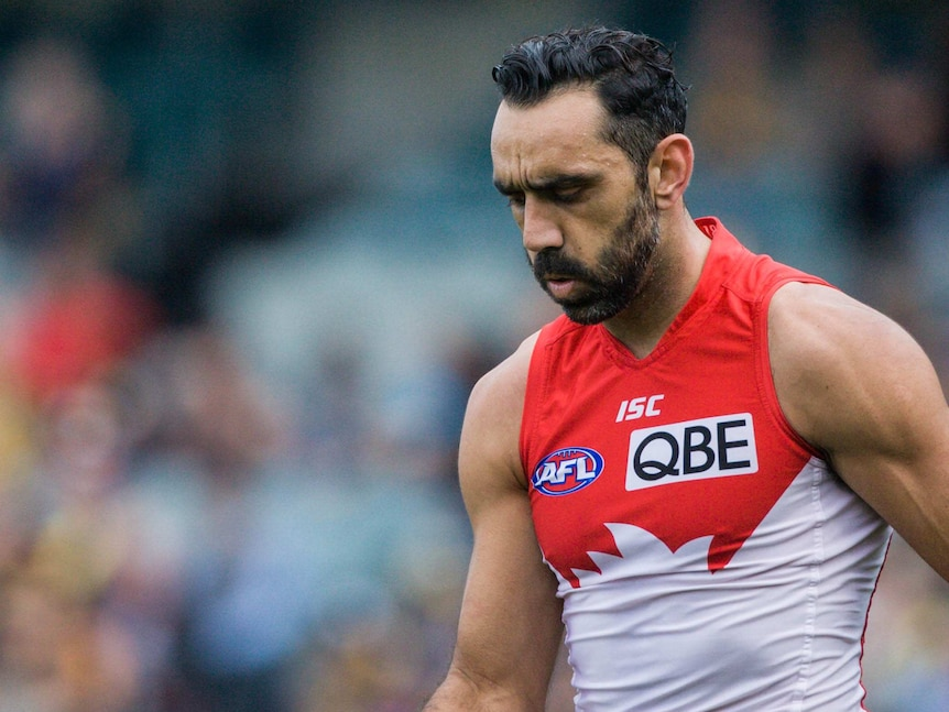 Sydney Swans star Adam Goodes, who is reportedly considering retirement over the booing scandal.