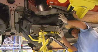 Image of worker at Holden plant
