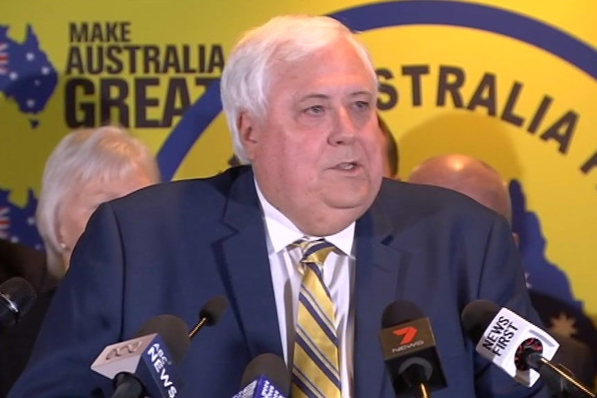 Federal Election 2019: Clive Palmer addresses Facebook posts purportedly by Canberra candidate