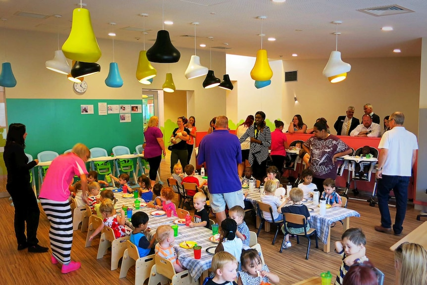The CCCares program offers child care facilities on campus in Phillip.