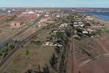 Aerial view of Port Hedland's west end