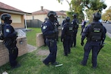 Police outside a home