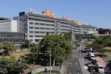 A multi-storey hospital complex