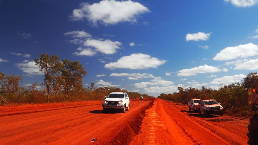 Workers on the Cape Leveque Road last year.