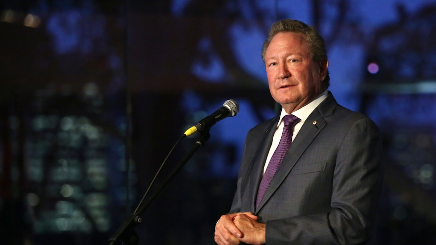 A man in a suit gives a speech at a formal function