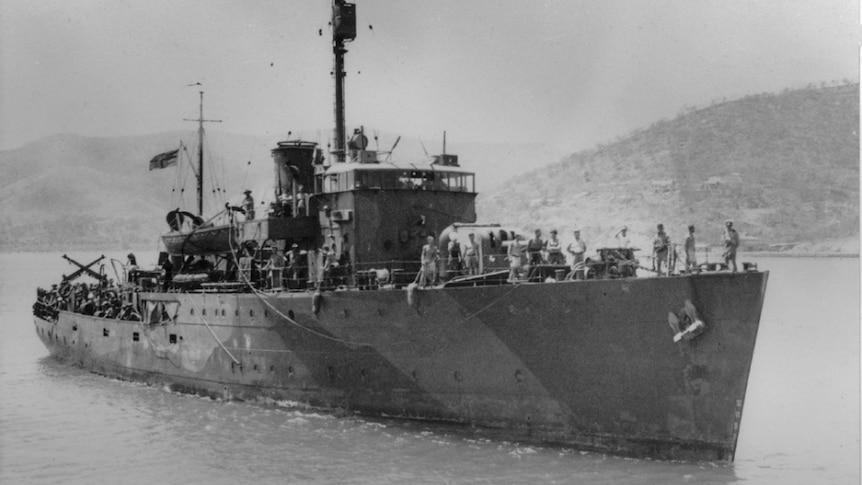 World War II ship.