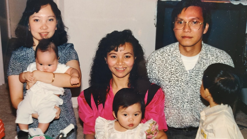 Thanh-ThyTiffanyTran and her family visiting a temple at Lunar New Year.