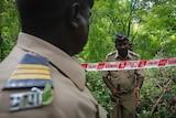 Mumbai police inspect scene of gang rape