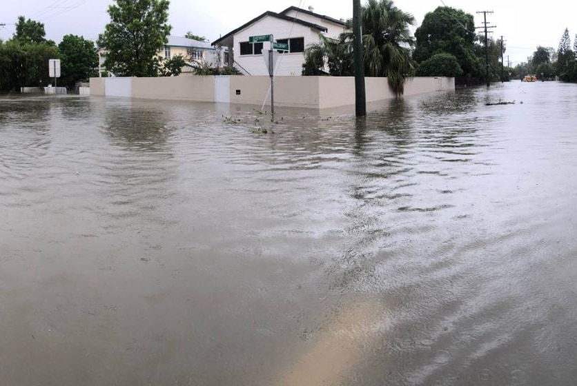 One of Townsville's flooded suburbs.