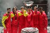Roberto Bautista Agut lifts the Davis Cup trophy