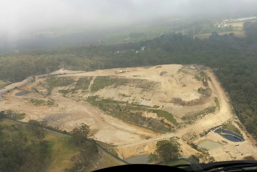 The EPA has confirmed sediment water was leaking from the landfill on Mangrove Mountain.