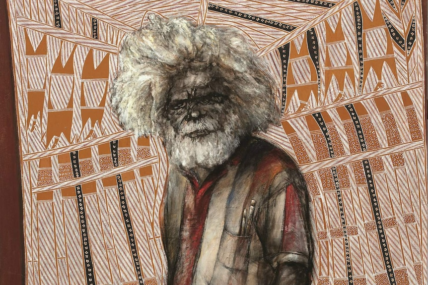 A painting of the late Johnny Bulunbulun