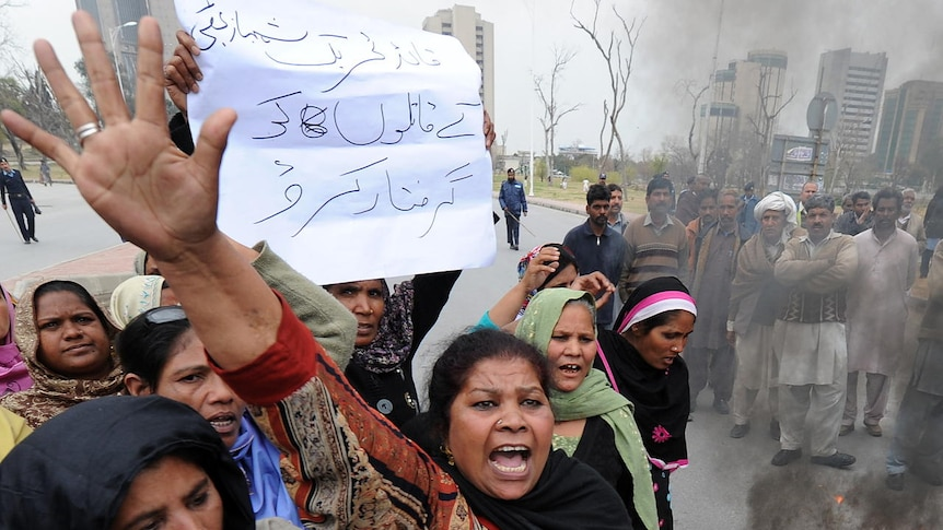 Protests against blasphemy
