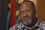 Vanuatu's Prime Minister Charlot Salwai, interviewed for the documentary Australia Calling.