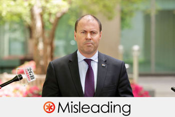 josh frydenberg's claim is misleading
