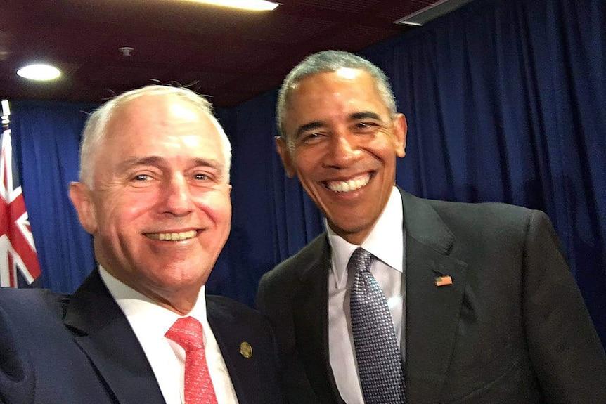 Malcolm Turnbull, Barack Obama selfie