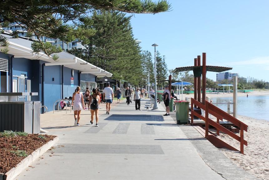 A walkway on the beach.