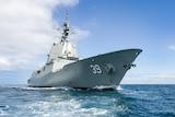 Air Warfare Destroyer Hobart during sea trials
