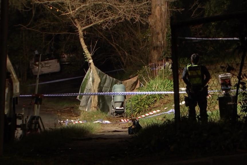A pram at a crime scene.
