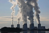 The Jaenschwalde brown coal-fired power plant in Lusatia