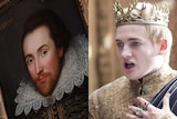 Composite image of William Shakespeare and King Joffrey from Game of Thrones