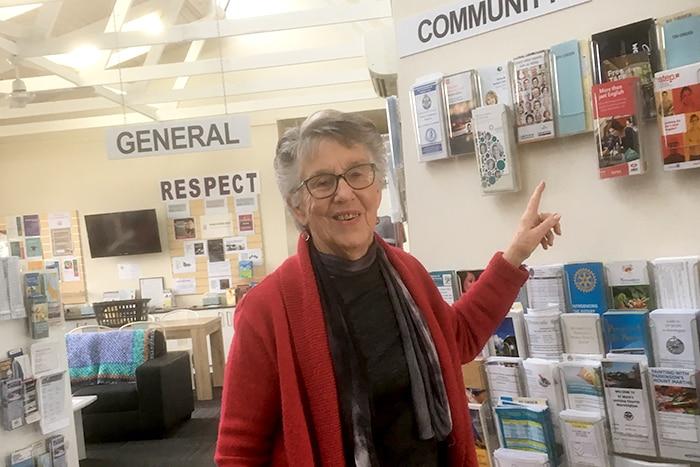 Margaret at community centre